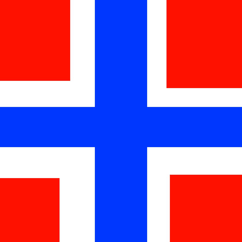 Norwegian flag by Iversen