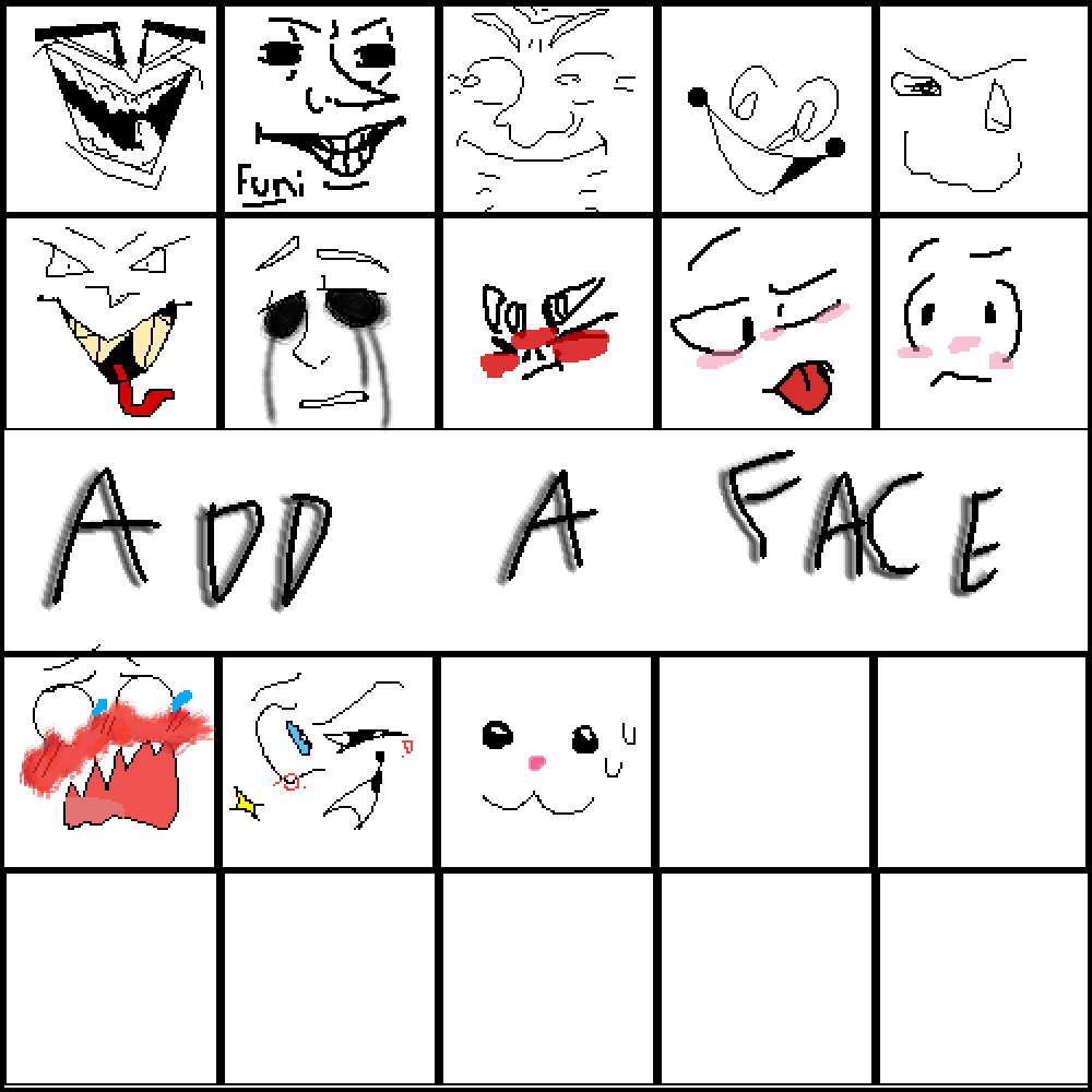 i drew a face  by gamerCandy47