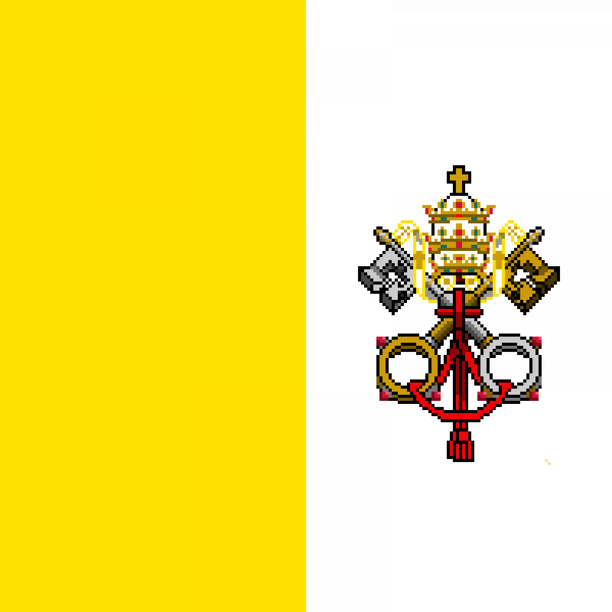 Flag of Vatican by KOMBATENT