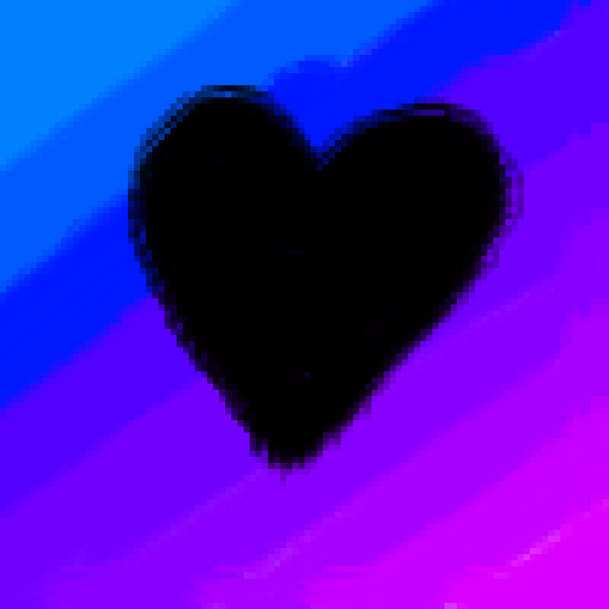 Faded Heart Flag by Games0Animals