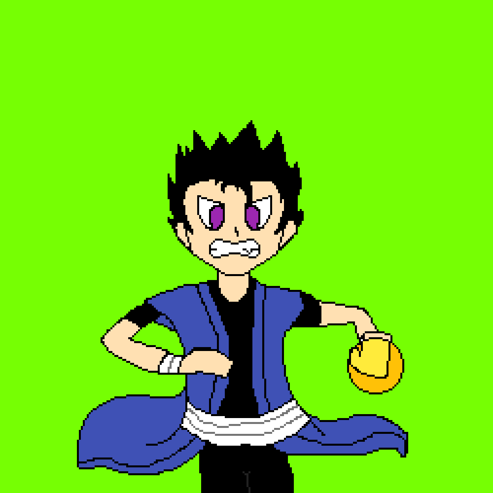 That One Time When I Drew Myself As A DBZ character by Technogist