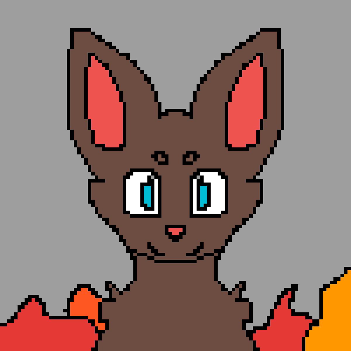 foxy in fire by JaydenAssassin