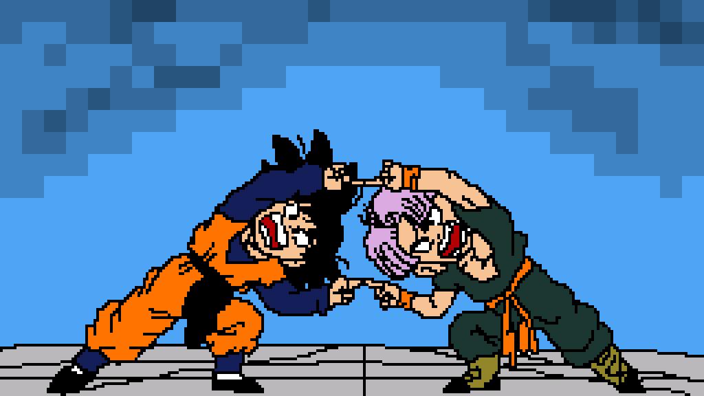 Pixilart - Goten and Trunks fusion dance by Samputt