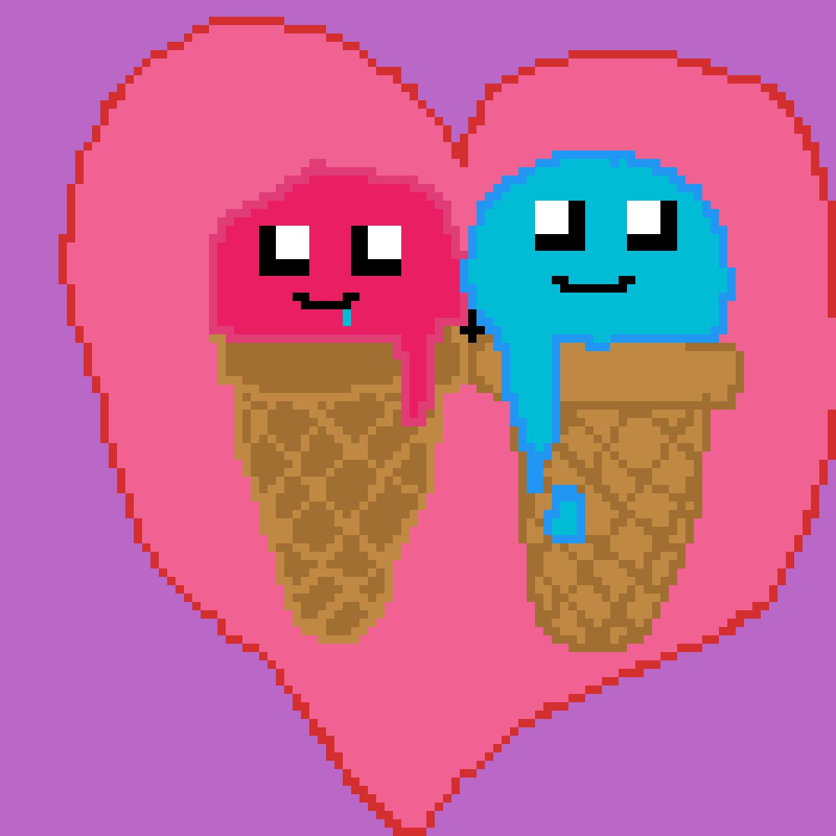 Ice cream by PandaPixelgirl