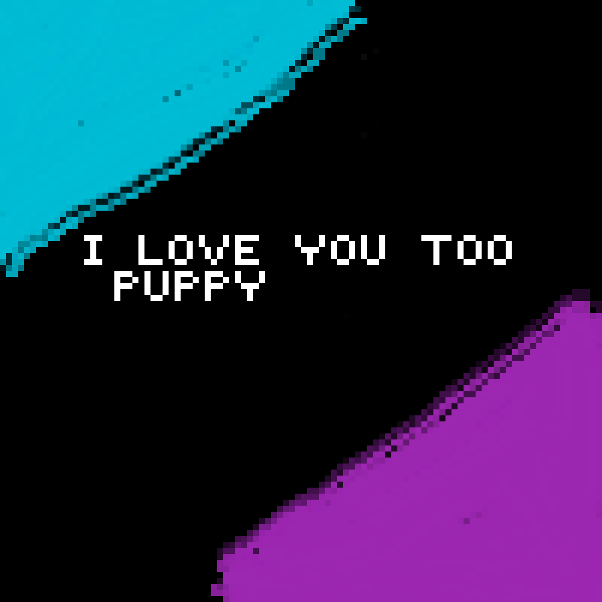 i love you puppy  by lacythewolf