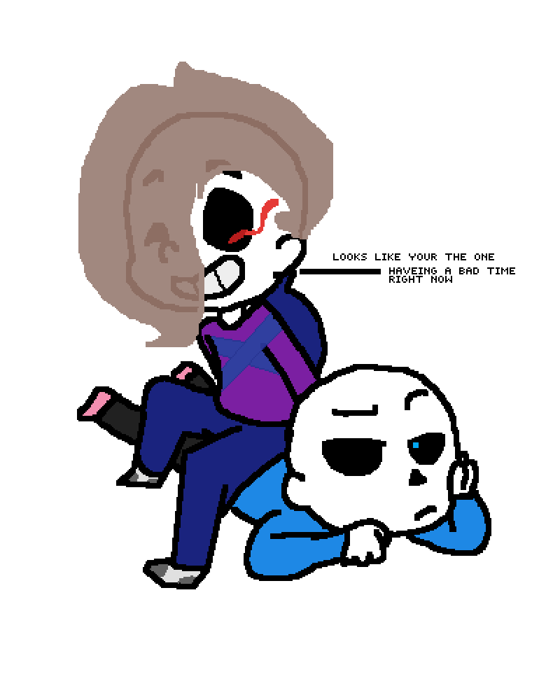 Pixilart - sans is having a bad time by cheeko-the-wolf