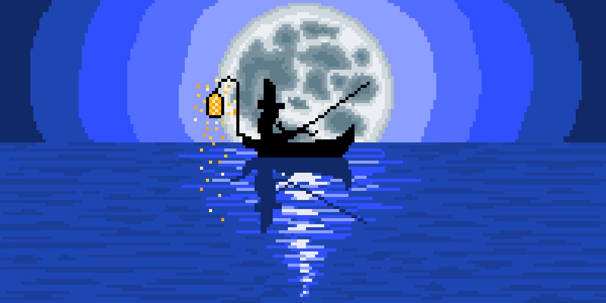 Midnight Fisherman by Thoo
