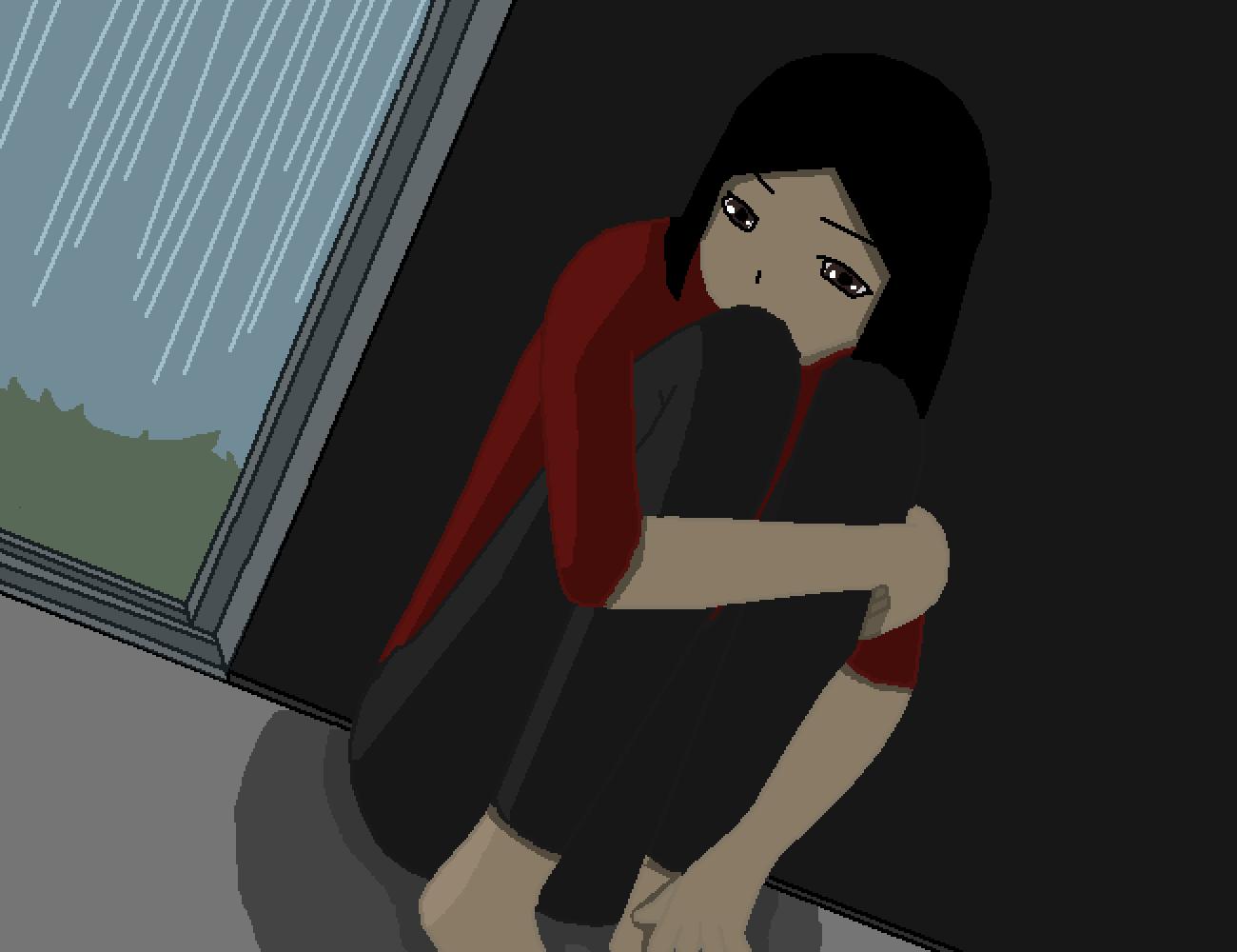 Sitting Around on Rainy Day by KawaiiMouse