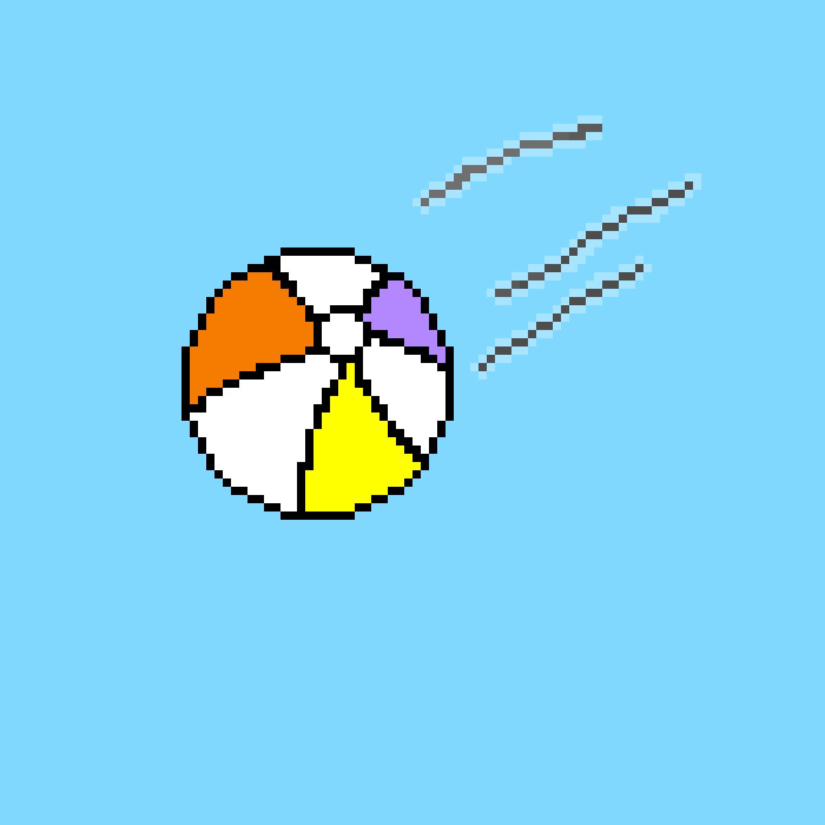 Flying Beach Ball  by piggylover09