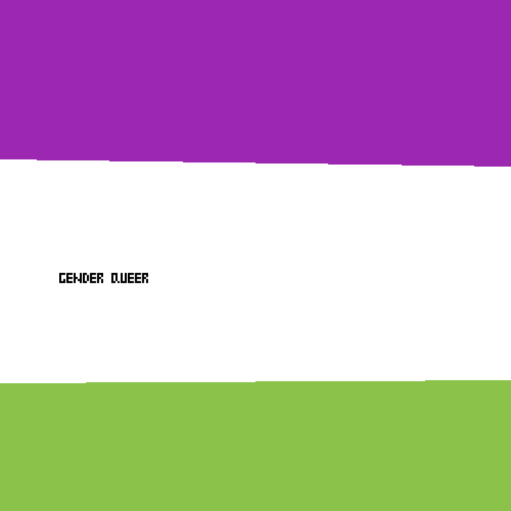 gender queer flag by WOLVES4LIFECC