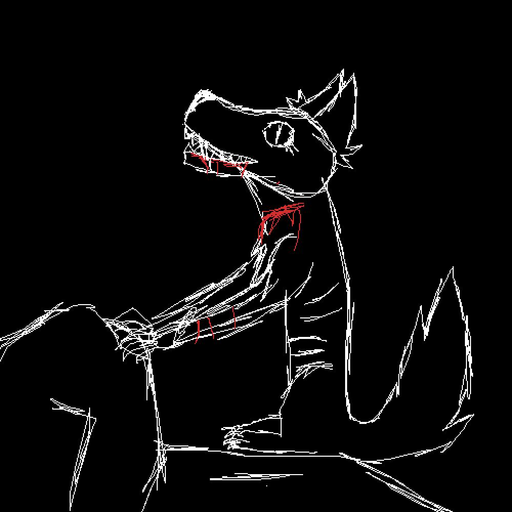 Wolf (Rough Sketch) by JessieJazzing