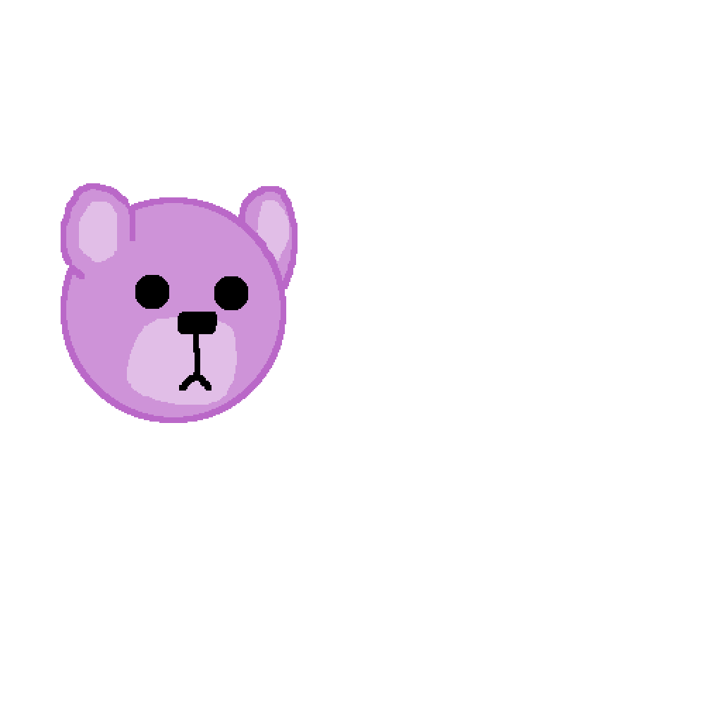 this is a purple bear by mistyrainbow101