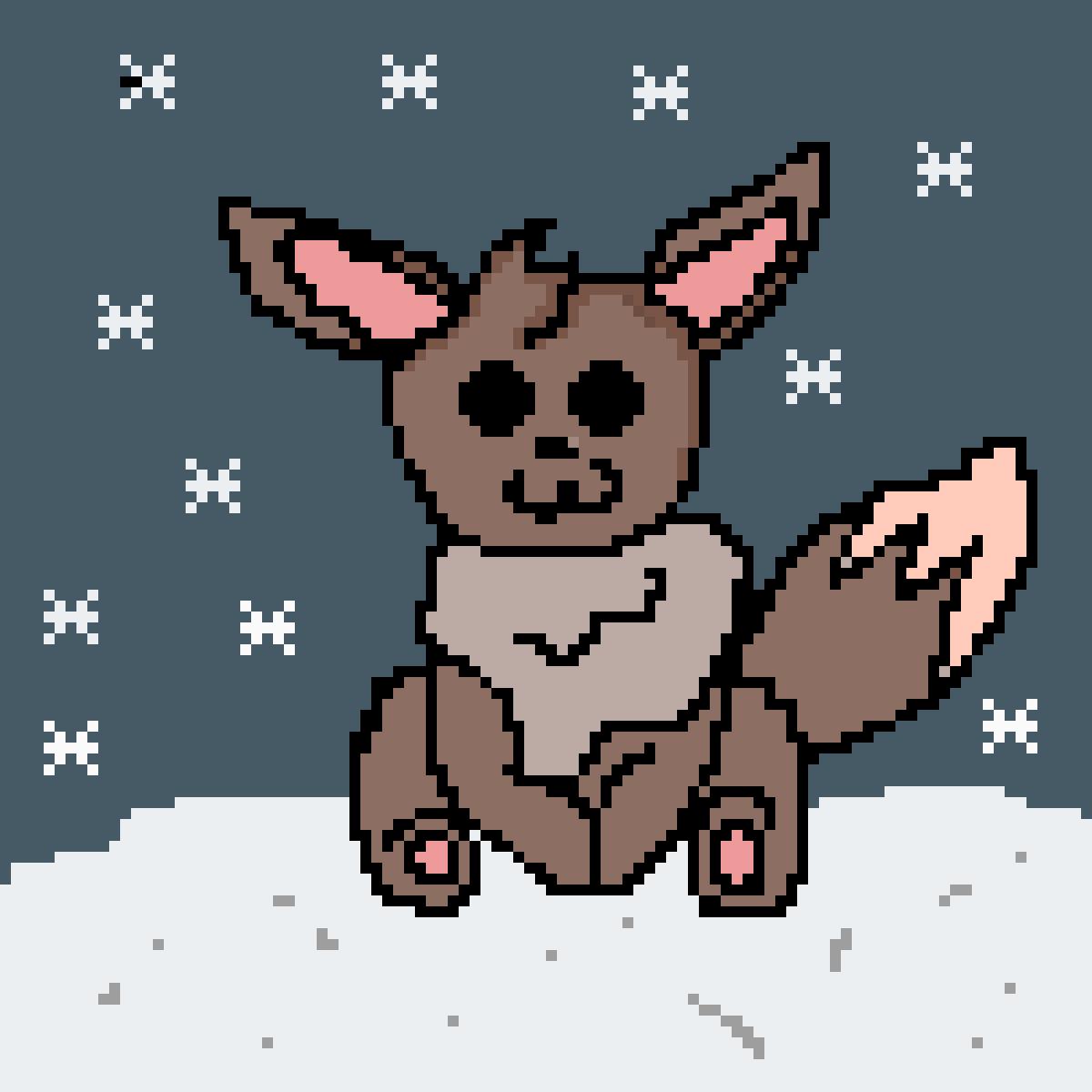 Christmas Eevee.Pixilart Christmas Eevee By Anonymous