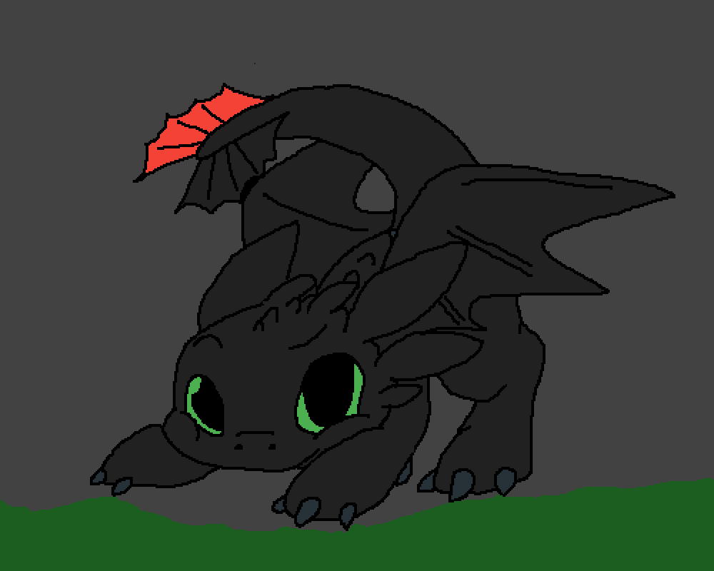 baby toothless by oceanraptor