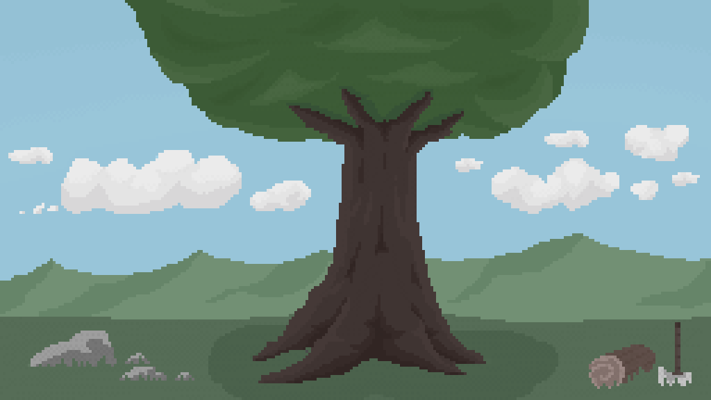 tree (but i colored it), it was a huge nightmare to col by the-pixel-noob