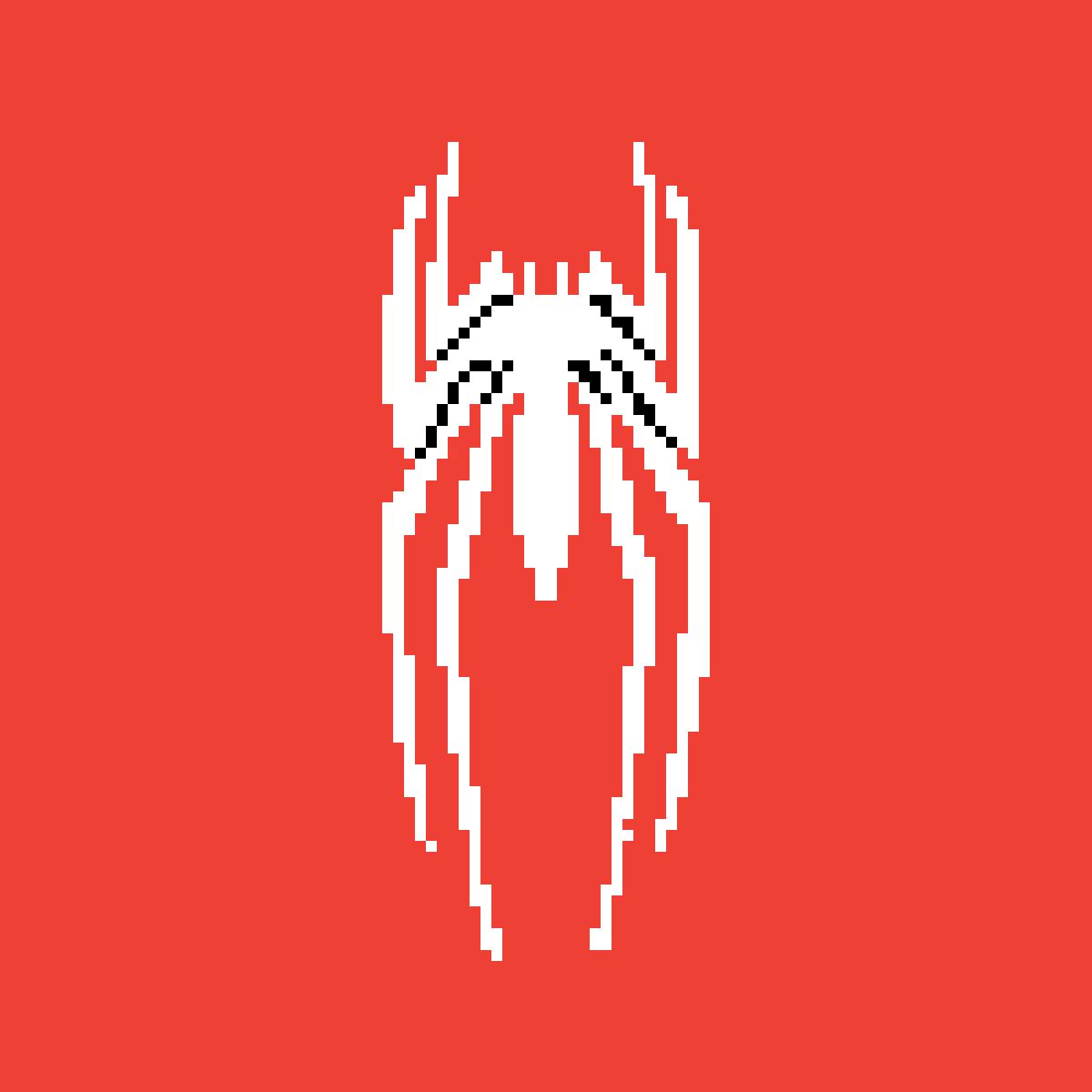 Pixilart Spiderman Symbol By Phanther