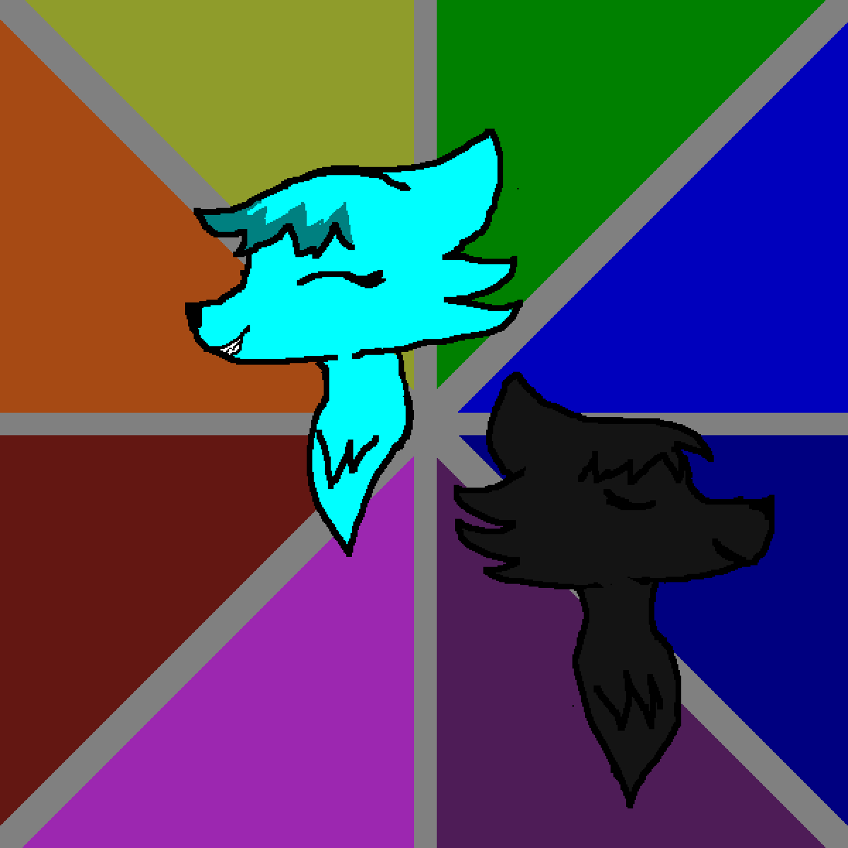 Void(the black one) and Echo(the blue one) by Lill1569