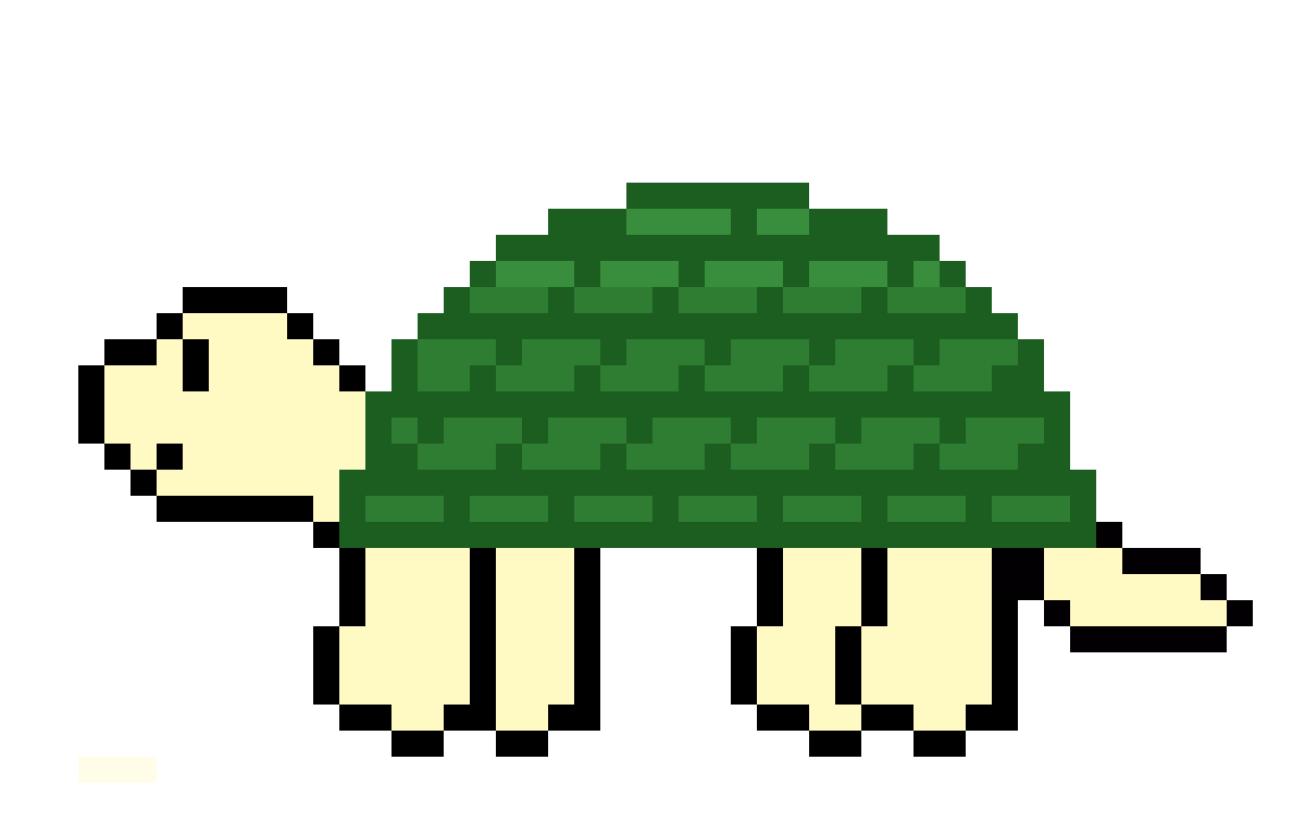 Turtle... in a transparent canvas? by ZelfIsCeecy