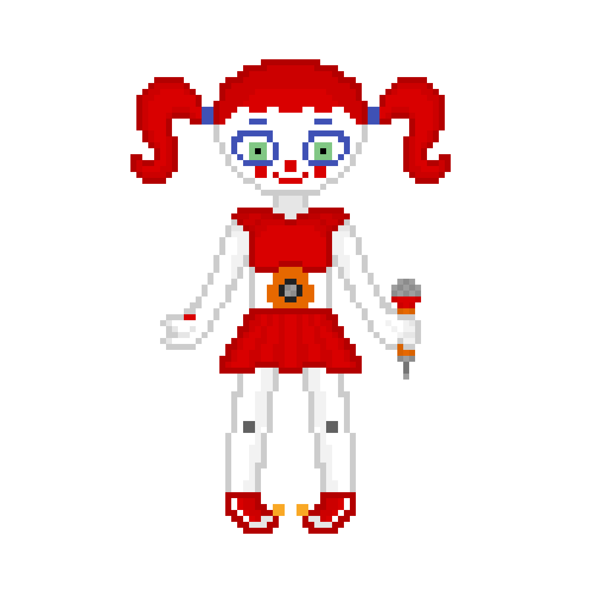 stylized base Circus Baby by crazycreeper529