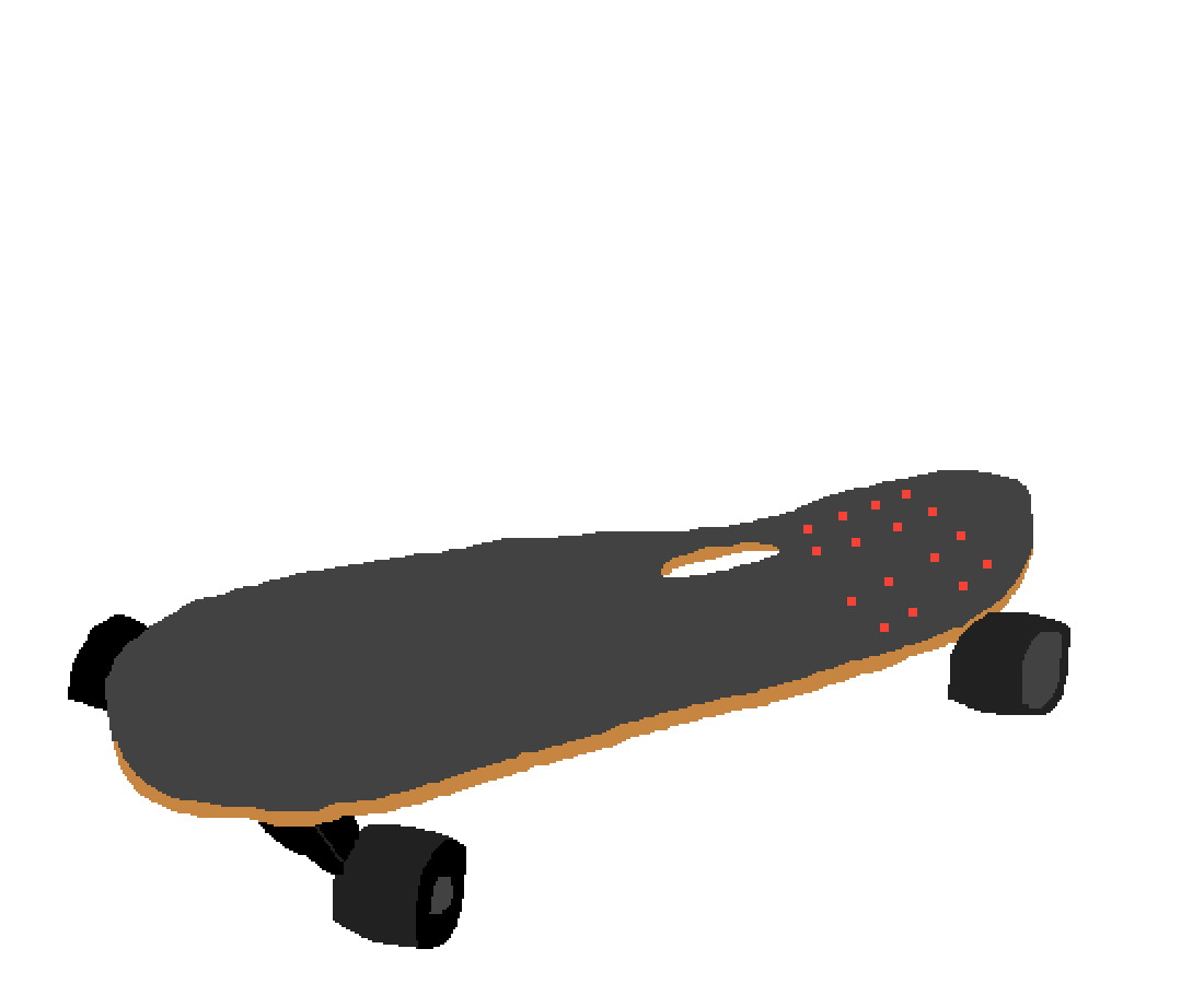 This is my self portrait of a google skateboard by FairyTale64