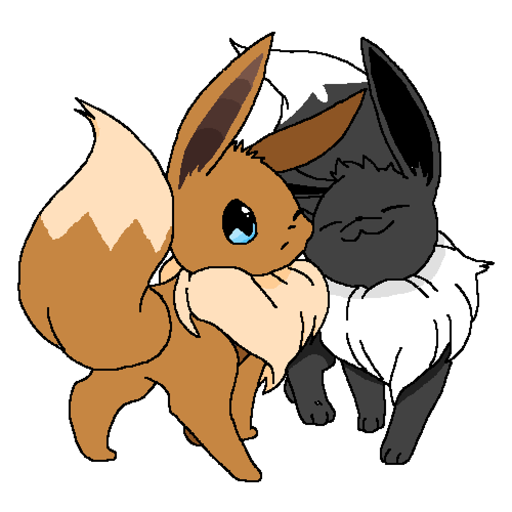 Black and white eevee by Foxey