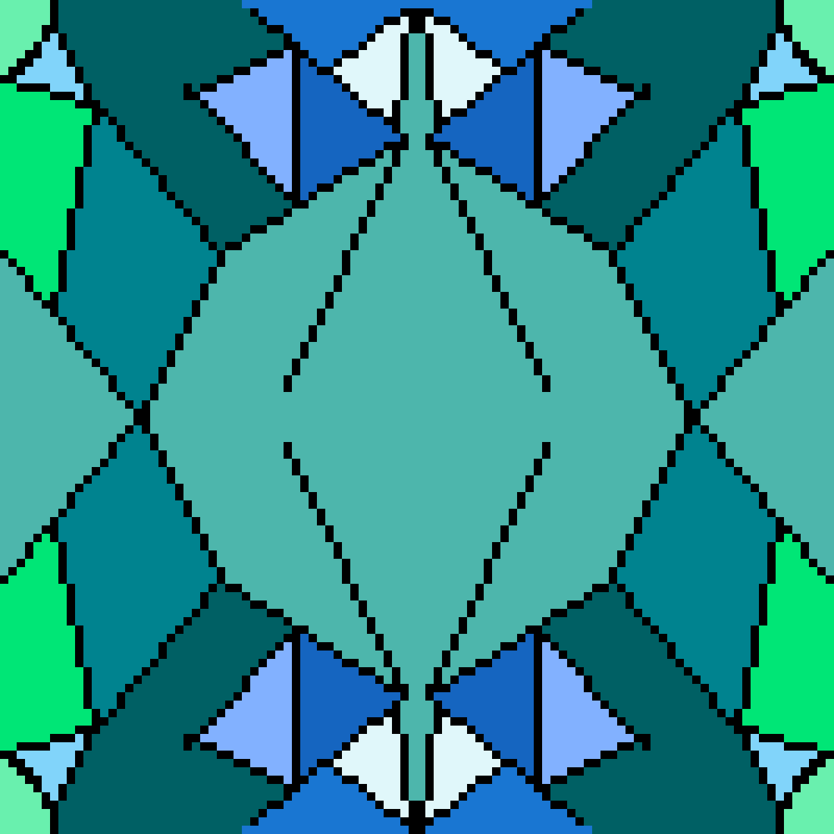 Blue Pattern by ChloeFire