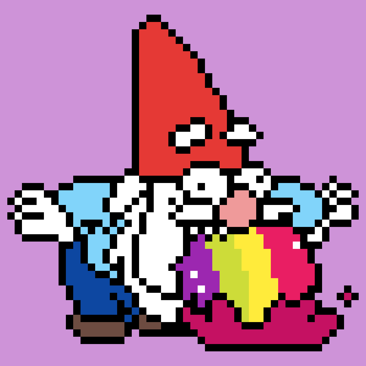 Gnome Throwing Up Rainbows