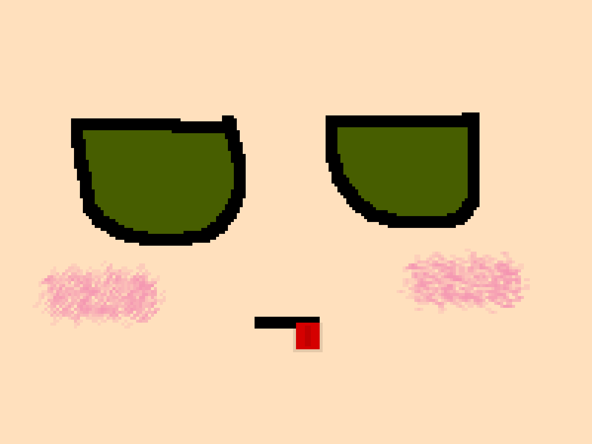 Rly bad drawing of irl face.