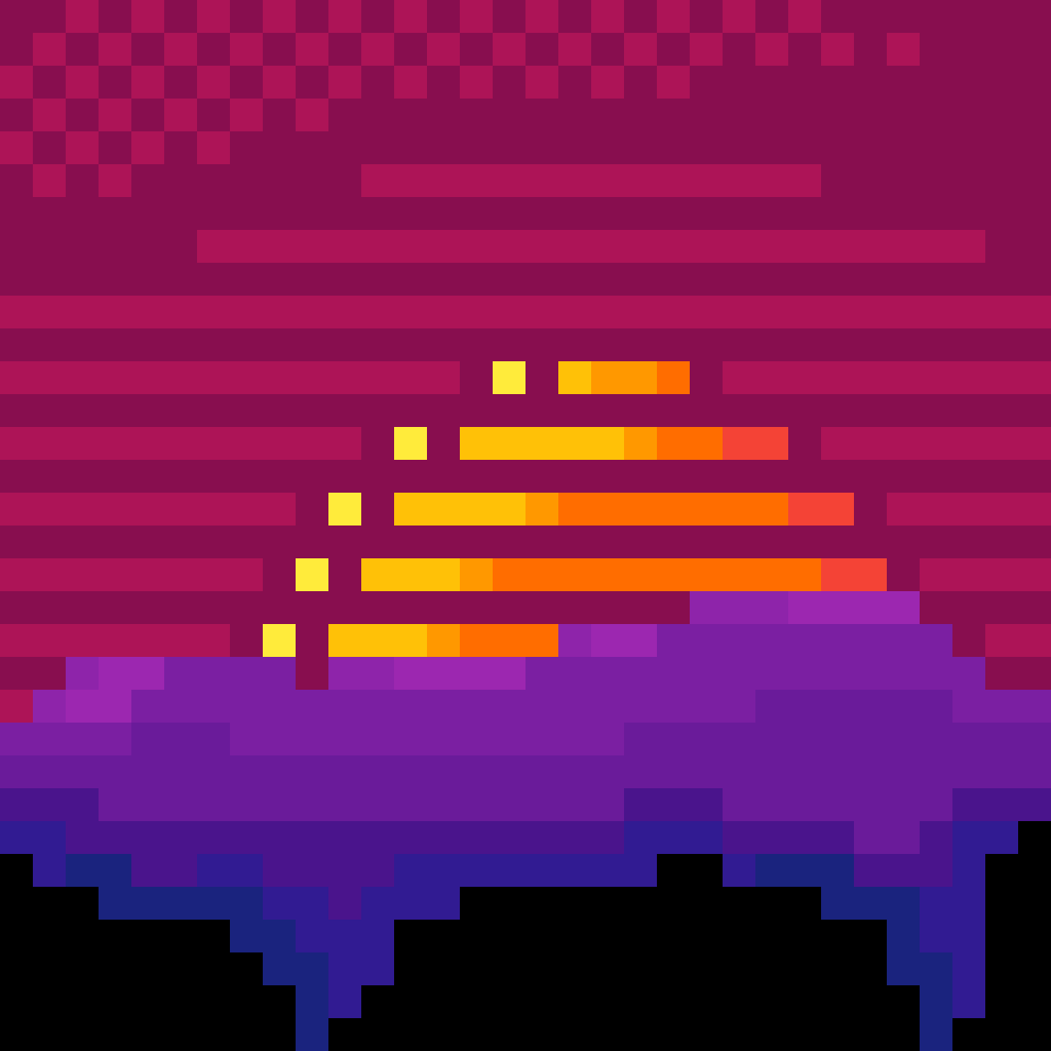 vapor wave sunset
