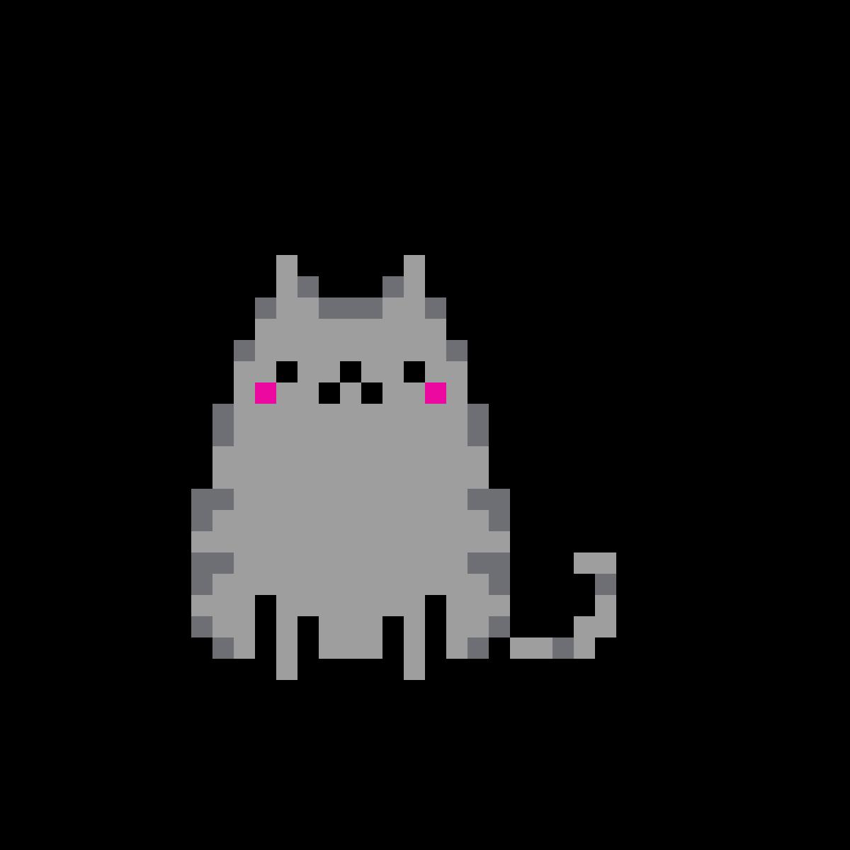 картинки по клеточкам котик пушин этих