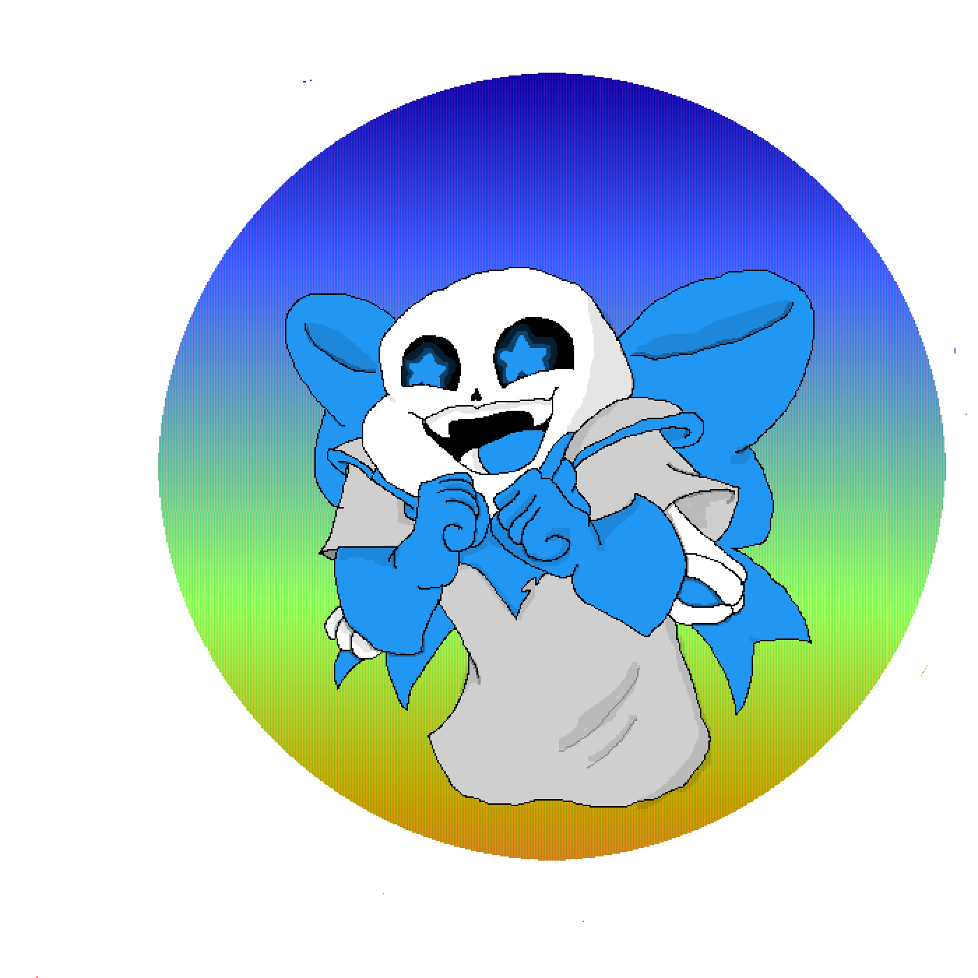 Underswap Sans circle by Meowi-me
