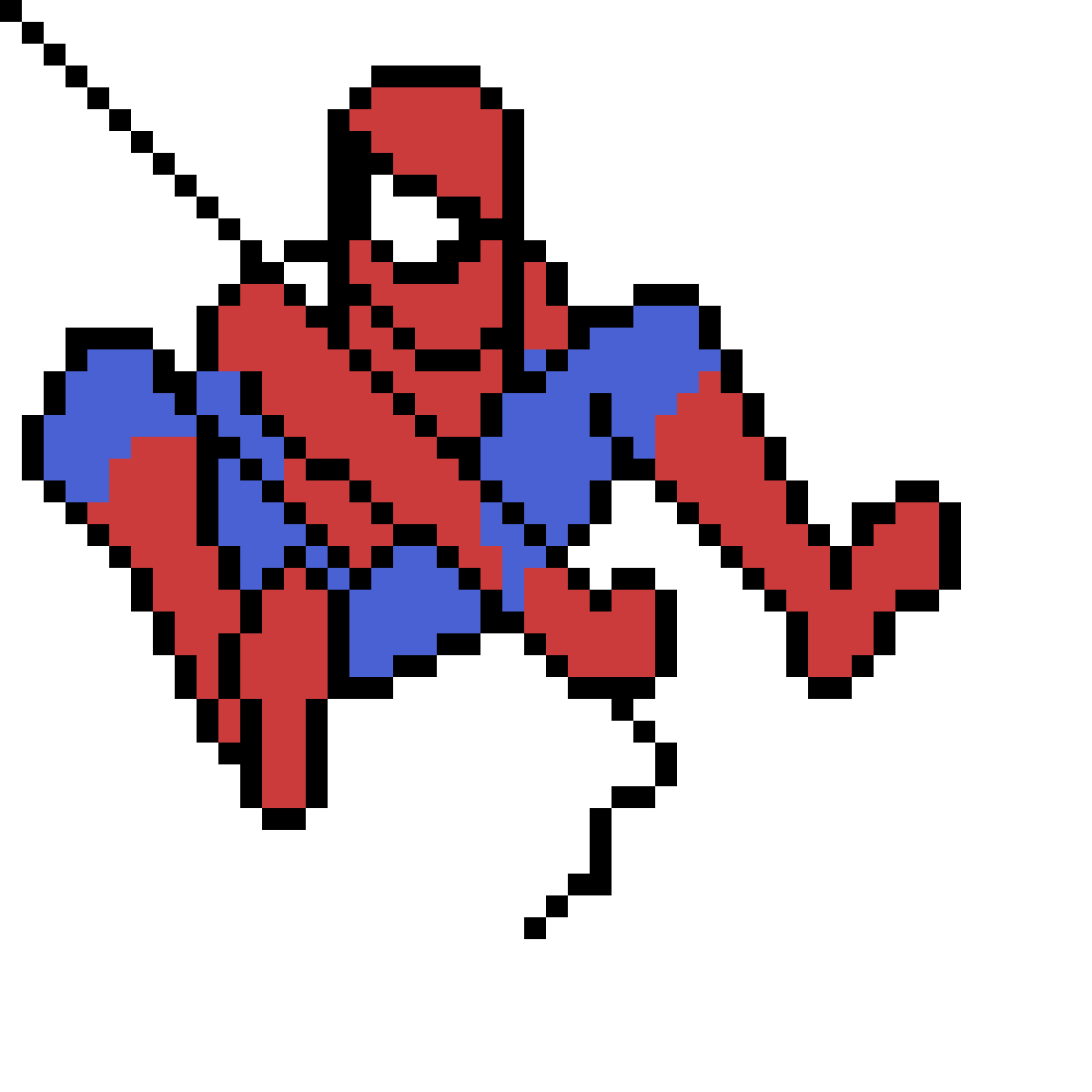 Spider-Man (Swinging) by PixelNinja1818
