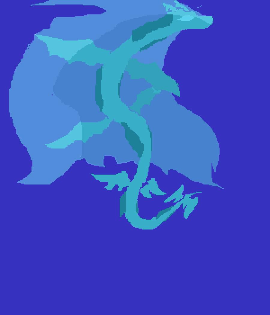 Dragon.pixil by bluetigergirl