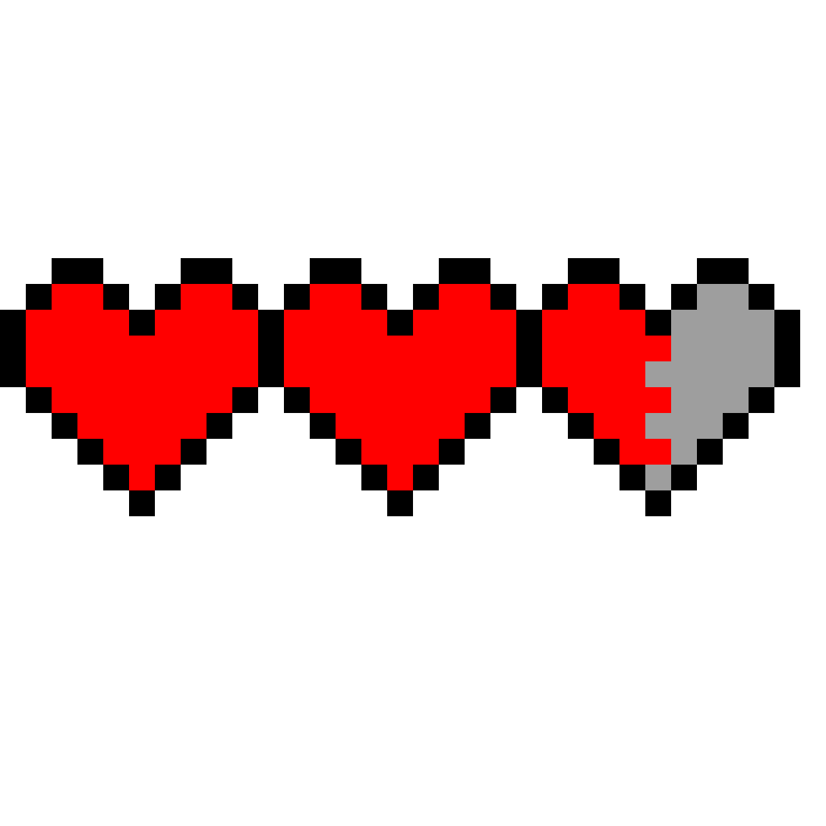 Pixilart Coeur Minecraft By Loulou