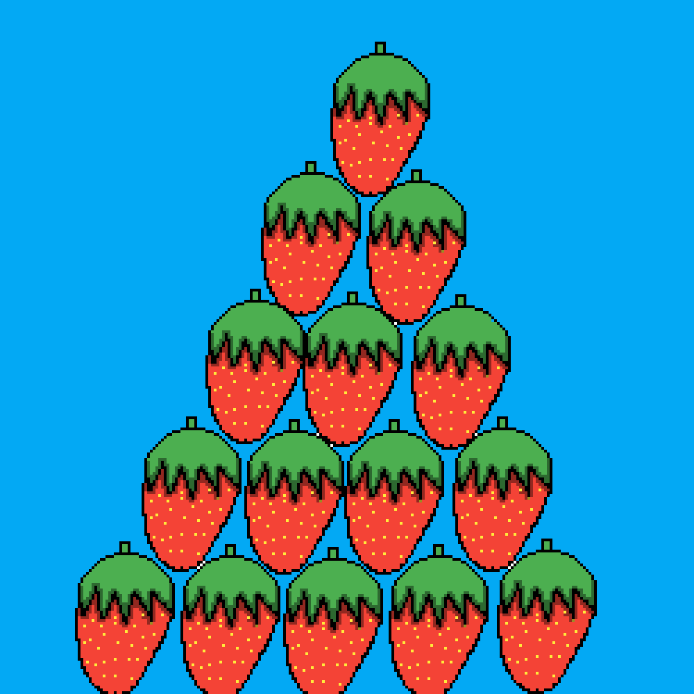 strawberry pyramid by marshmellowlord