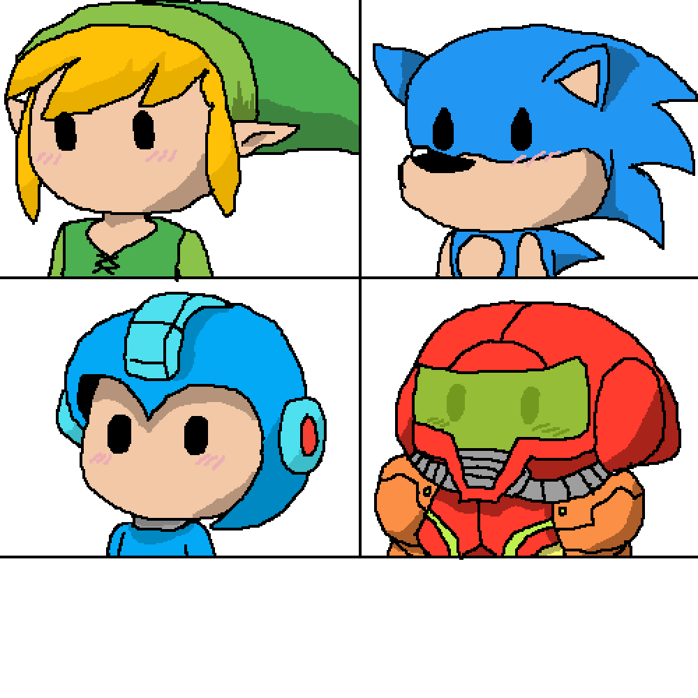 Cute video game characters!  by RebelBiscuit546