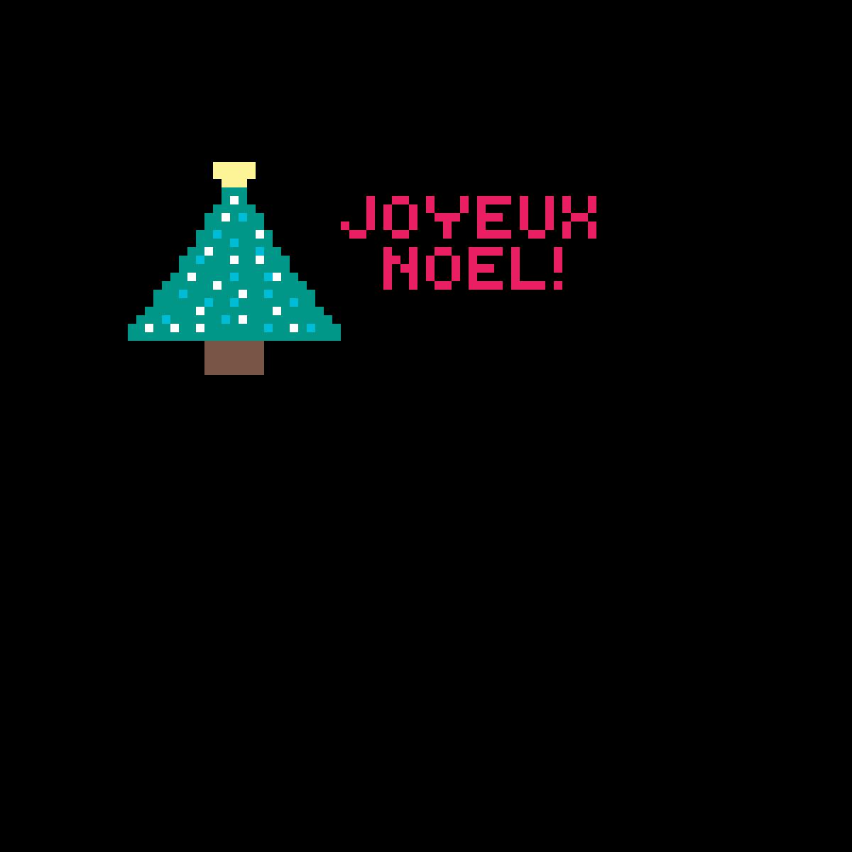 Pixilart Dessin De Noel En Pixel Art Joyeux Noel By