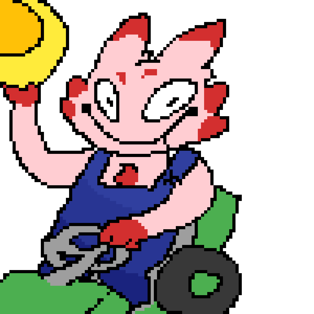 Pixilart I Can Take You For A Ride On My Big Green Tractor By Improv