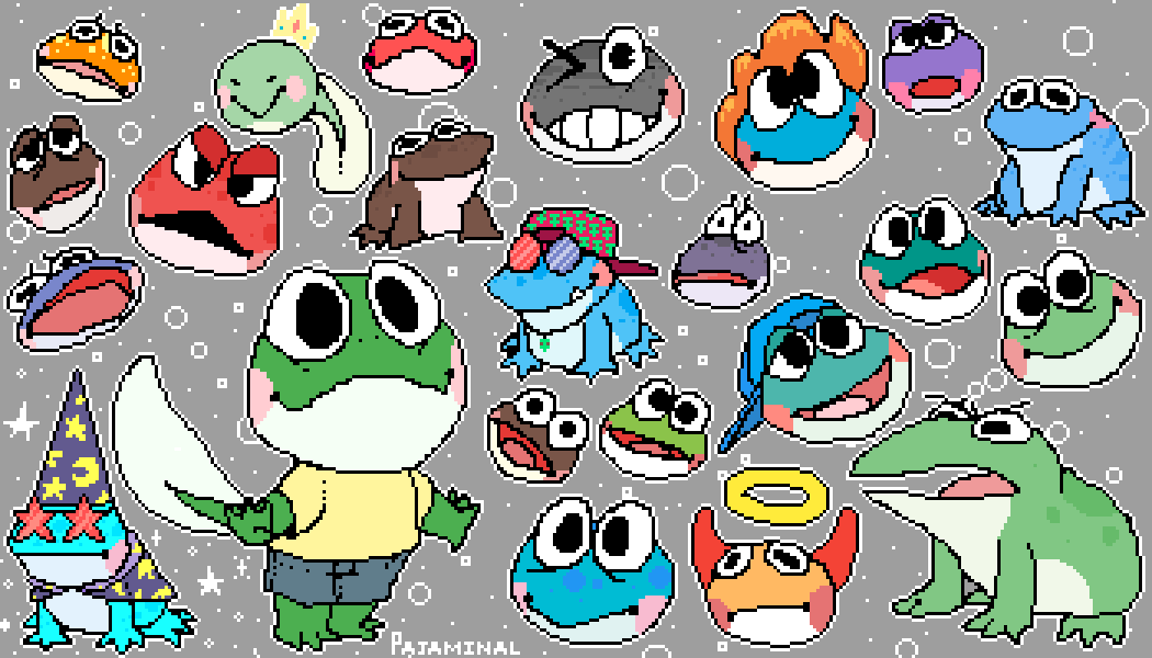 All my frogs so far by Pajaminal