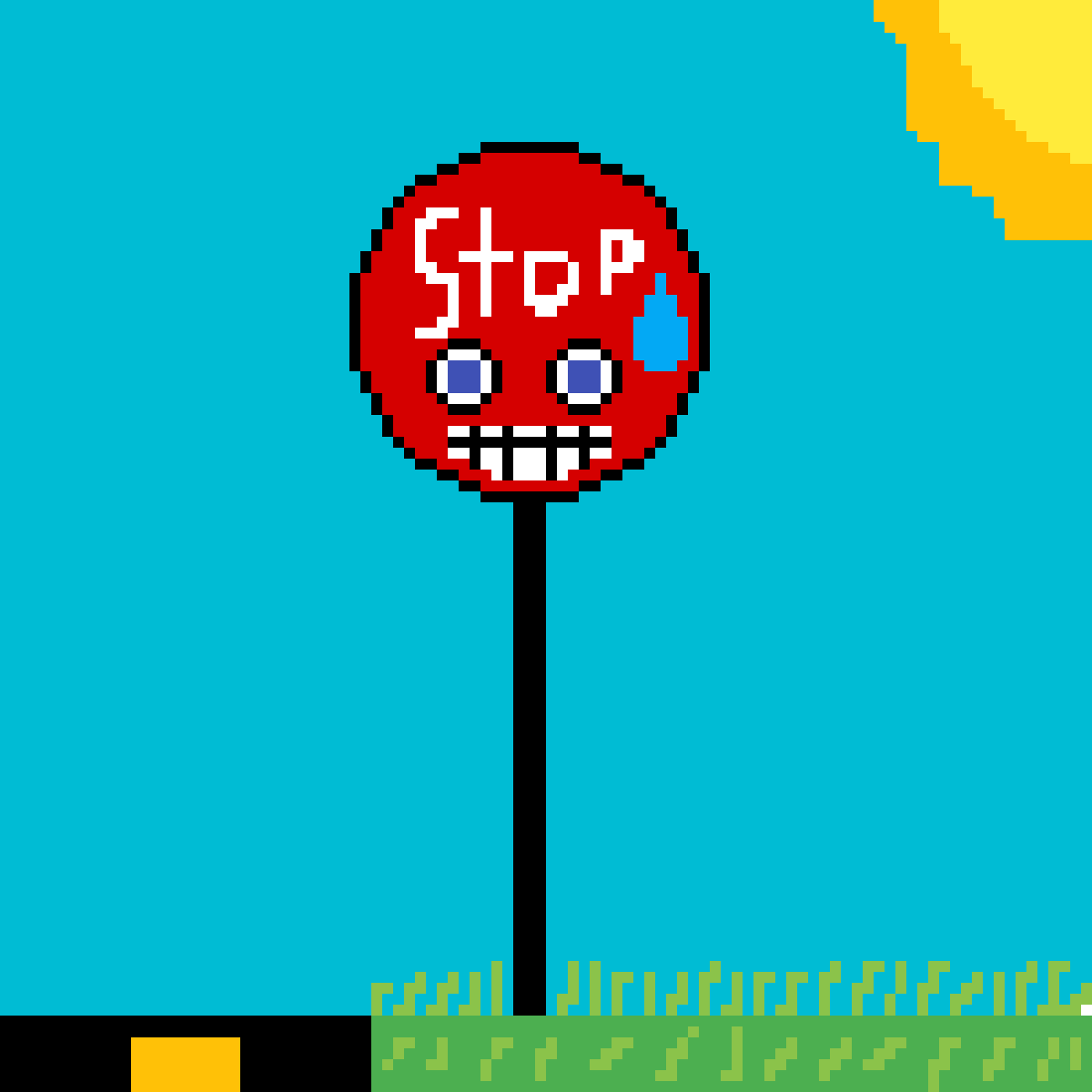 nervous stop sign  by DayD06