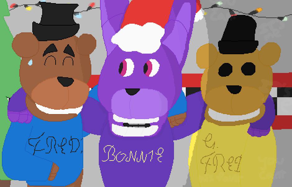 Fnaf Christmas.Pixilart Merry Fnaf Christmas By Rupertthebeast