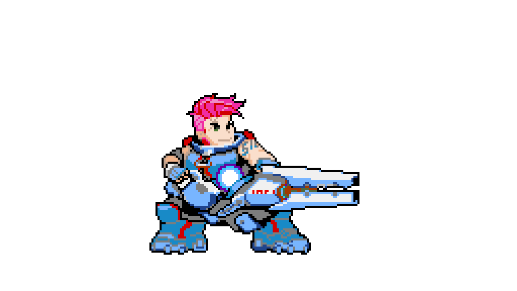 Zarya Pixel Spray:Overwatch By Kingpin