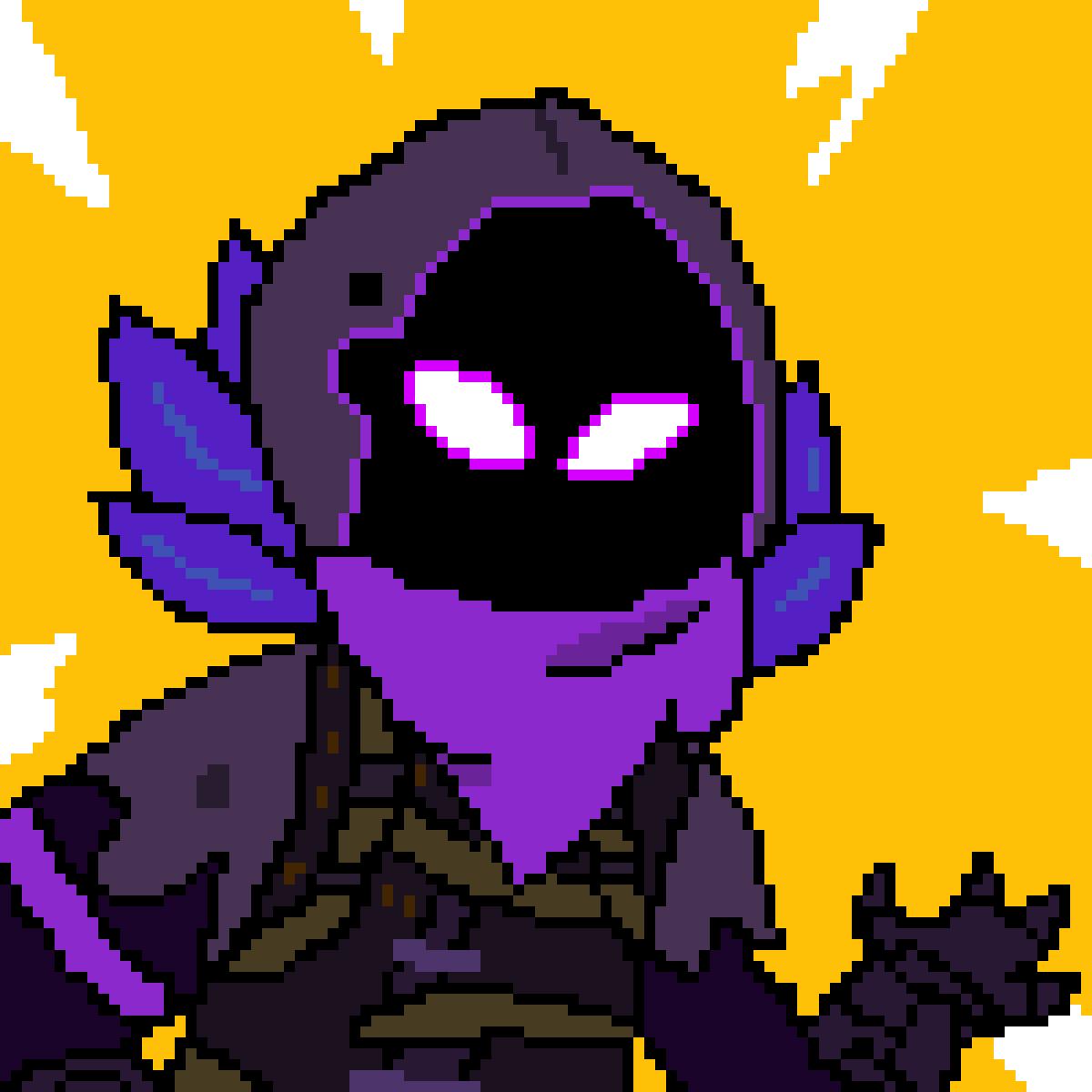 Pixilart Raven Fortnite Battle Royale By Theucproject