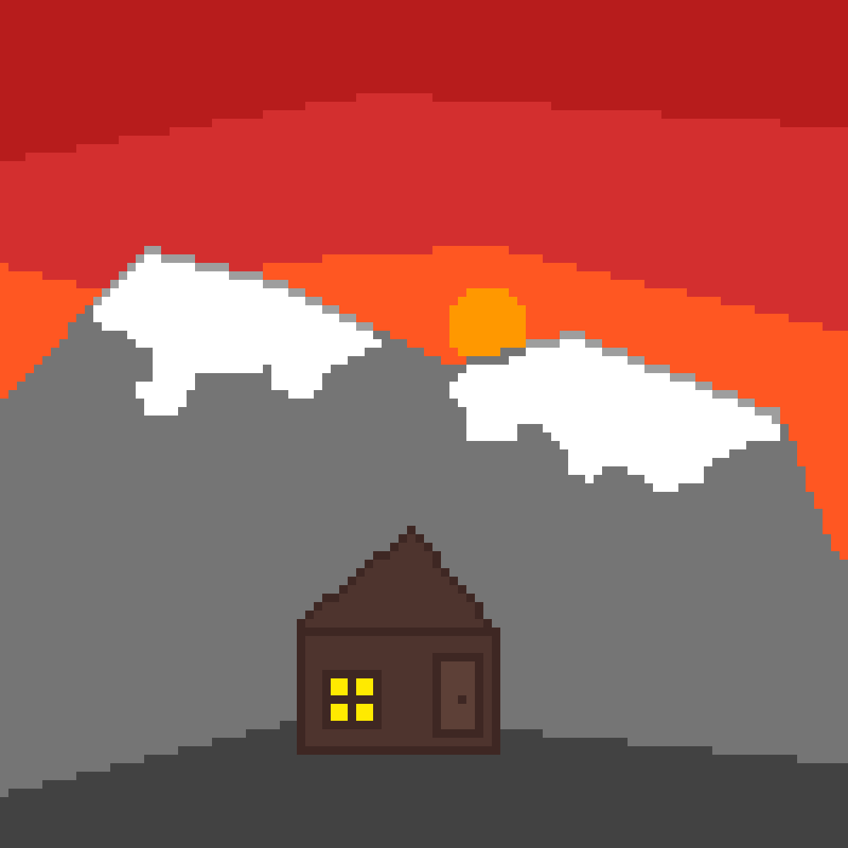 Sunset Mountain by Bnus