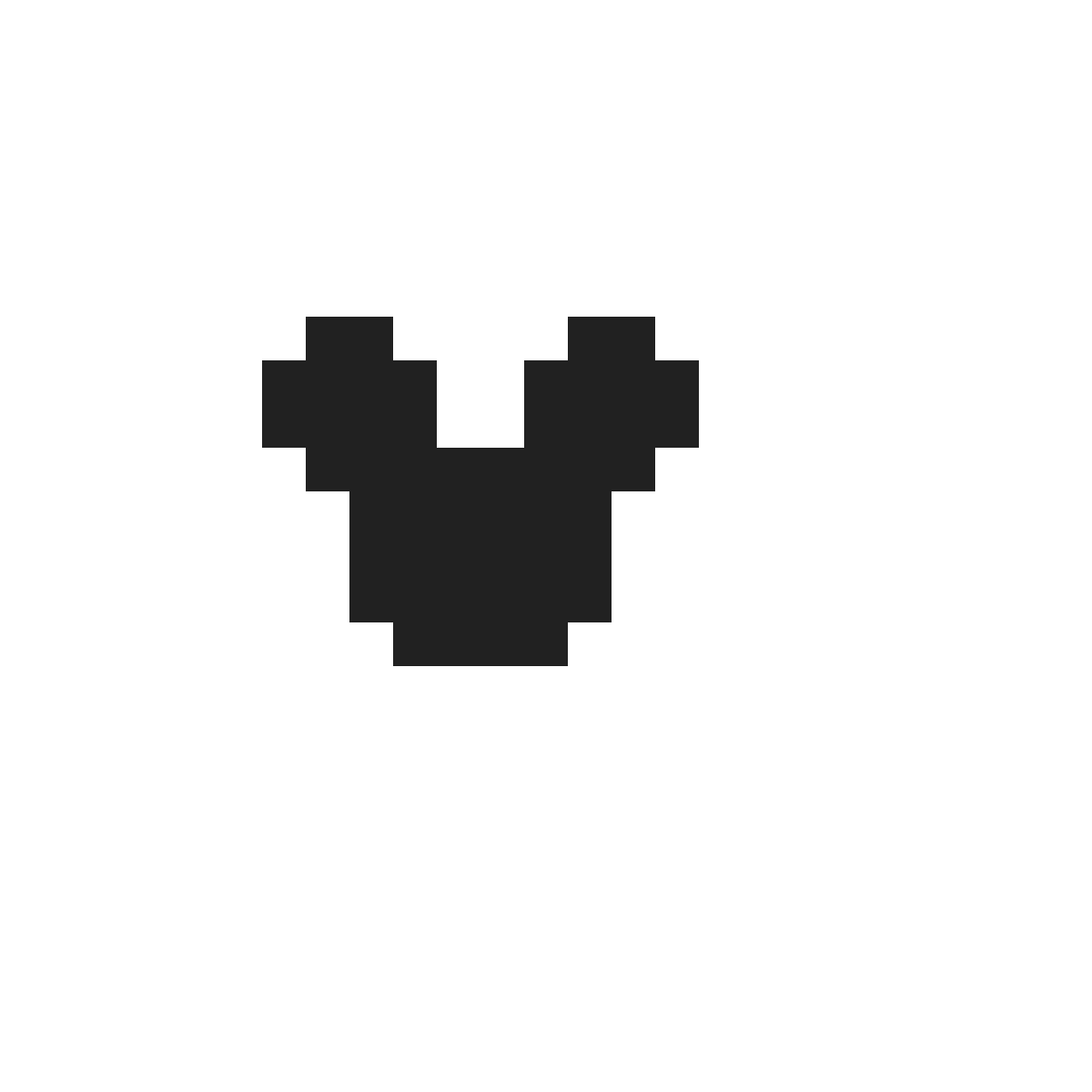 Mickey Mouse Pixel Art pixilart - mickey mouse logo by mellllllllll