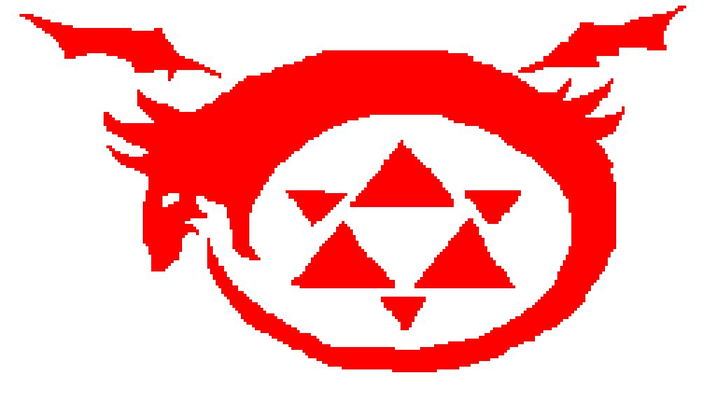 Pixilart Homunculus Symbol From Fma By Randomanimefrea