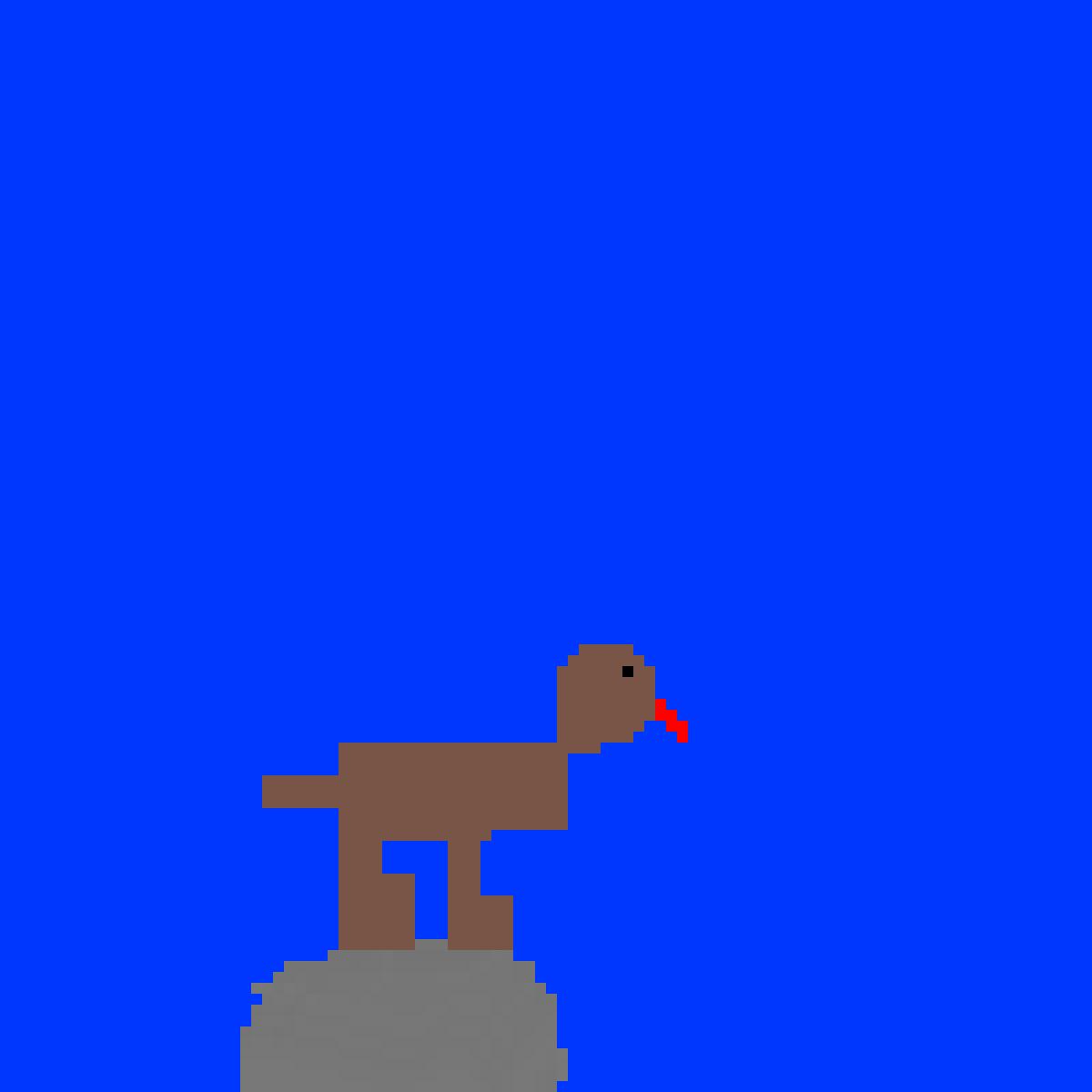 Dog on rock by SCHOOLISAWSOME