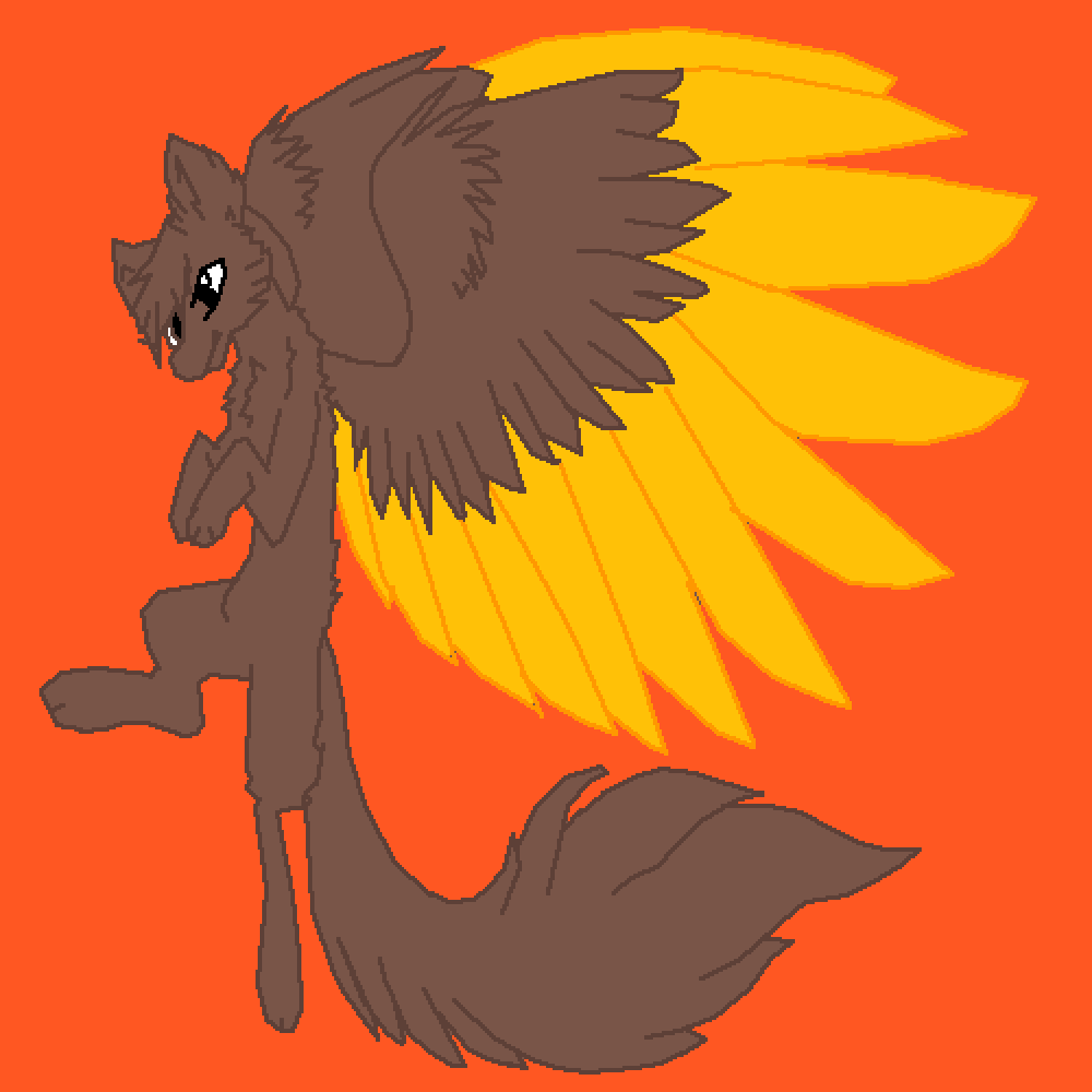 Pixilart If Wolf Gabby Had Wings By Catsrule22