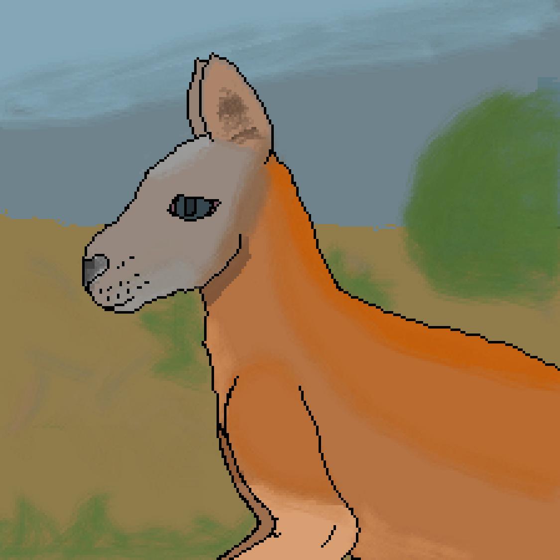 main-image-Red Kangaroo  by LionArtist