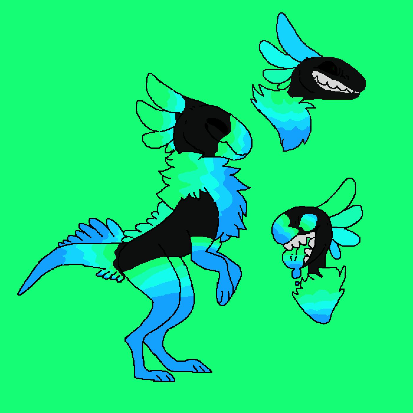 pixilart raptor oc by raindrops pixilart raptor oc by raindrops